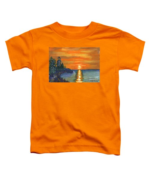 Sunset At The Lighthouse Toddler T-Shirt