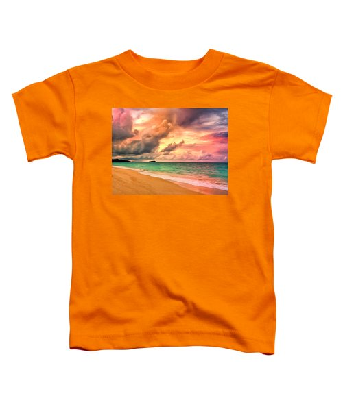 Sunset Glow At Waimanalo Toddler T-Shirt