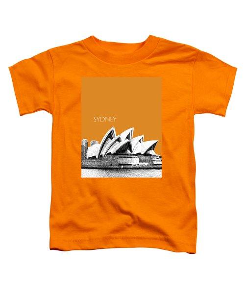 Sydney Skyline 3  Opera House - Dark Orange Toddler T-Shirt