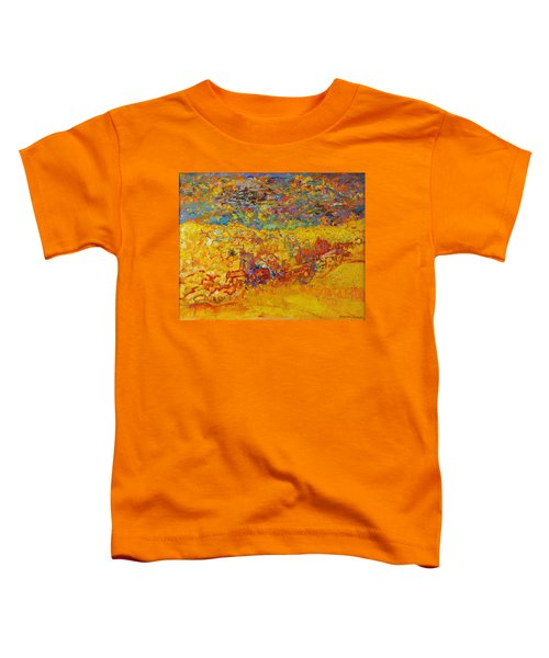 The Little Red Church Oil On Canvas Toddler T-Shirt
