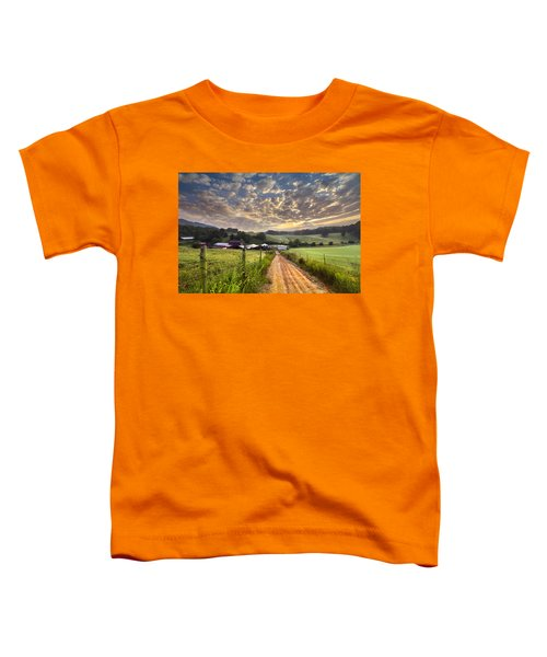 Toddler T-Shirt featuring the photograph The Old Farm Lane by Debra and Dave Vanderlaan