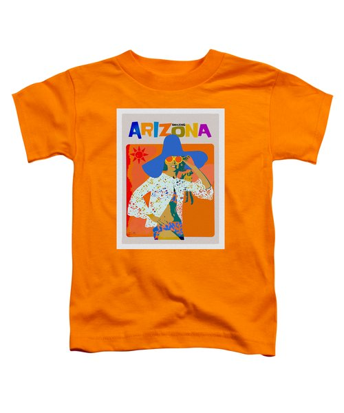 Toddler T-Shirt featuring the digital art Vintage Arizona Travel Poster by Joy McKenzie