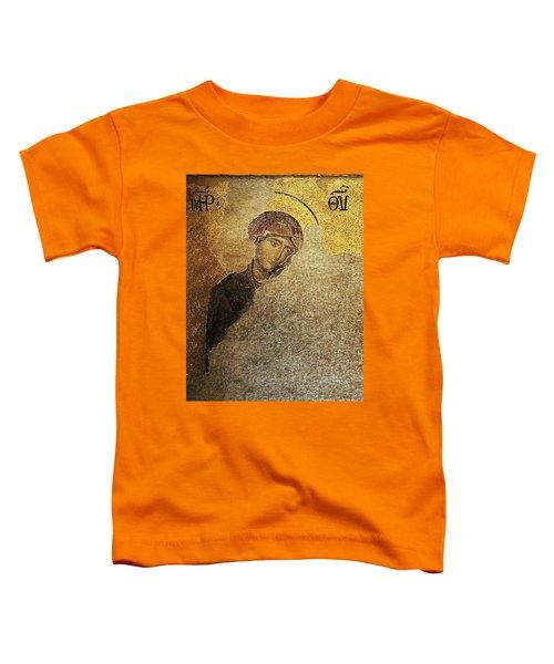 Virgin Mary-detail Of Deesis Mosaic  Hagia Sophia-day Of Judgement Toddler T-Shirt