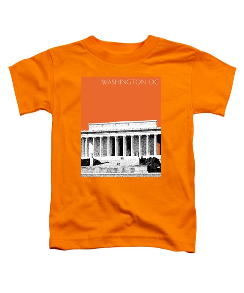 Washington Dc Skyline Lincoln Memorial - Coral Toddler T-Shirt