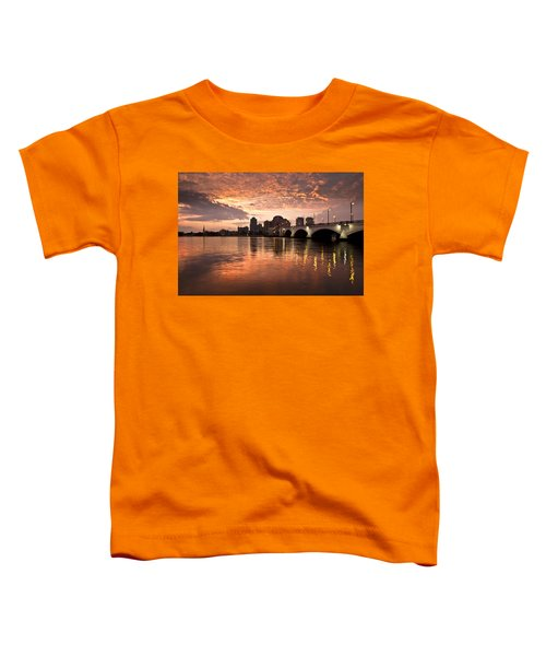 West Palm Beach Skyline At Sunset Toddler T-Shirt