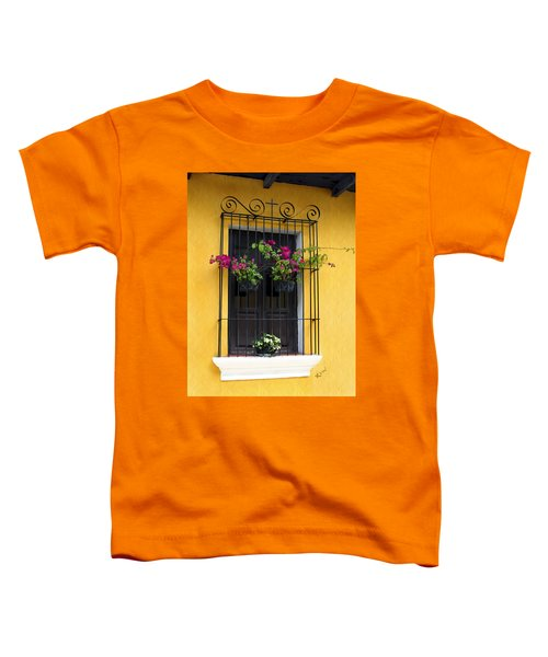 Window At Old Antigua Guatemala Toddler T-Shirt