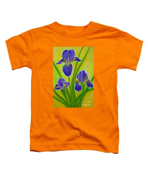 Wonderful Iris Flowers 3 Toddler T-Shirt