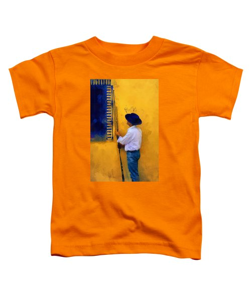 Spanish Man At The Yellow Wall. Impressionism Toddler T-Shirt