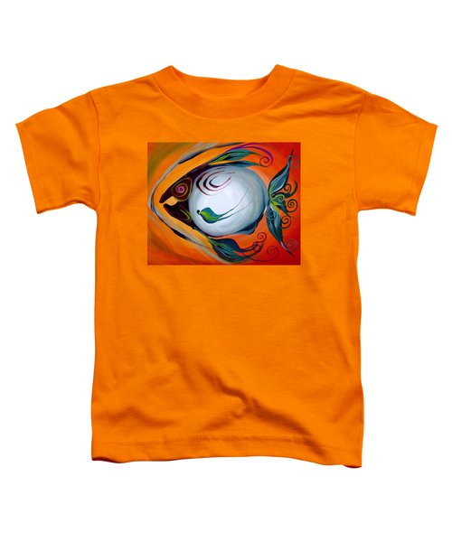 Teal Fish With Orange Toddler T-Shirt