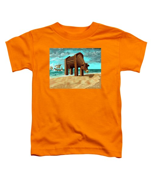 Trojan Cow Toddler T-Shirt