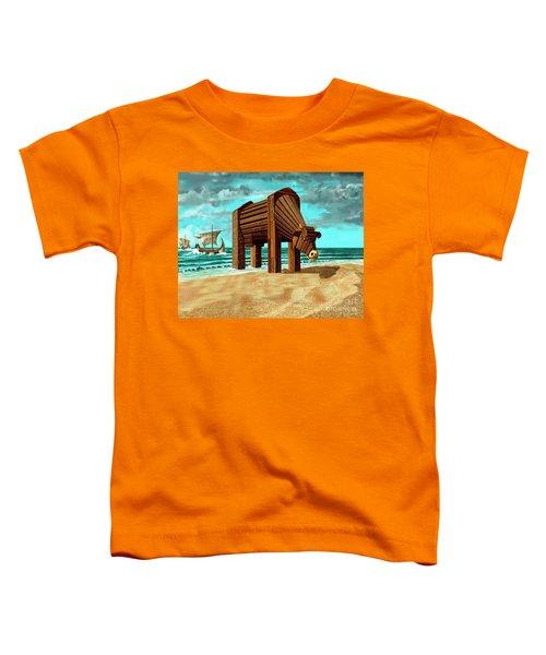 Trojan Cow Toddler T-Shirt