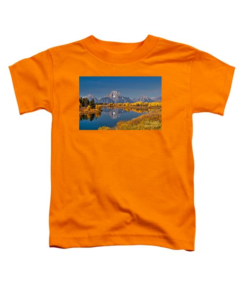 Fall Colors At Oxbow Bend In Grand Teton National Park Toddler T-Shirt