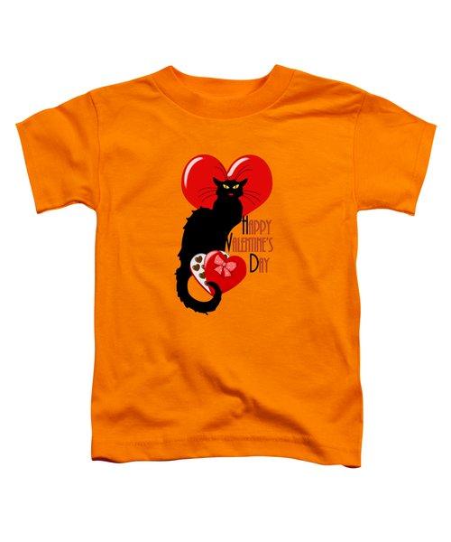 Happy Valentine's Day Le Chat Noir Toddler T-Shirt