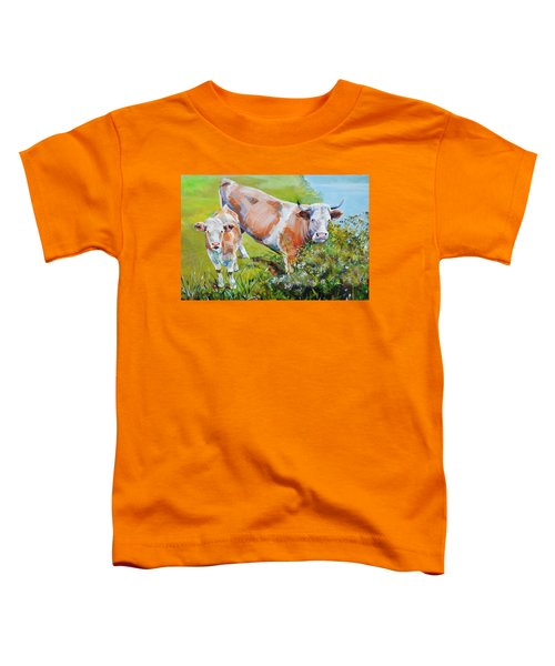 Cow And Calf Painting Toddler T-Shirt