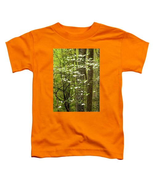 Dogwood Blooming In Forest Toddler T-Shirt