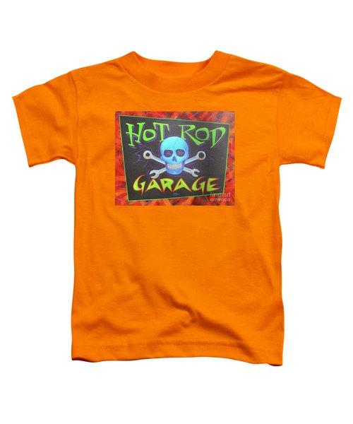Hot Rod Garage Toddler T-Shirt