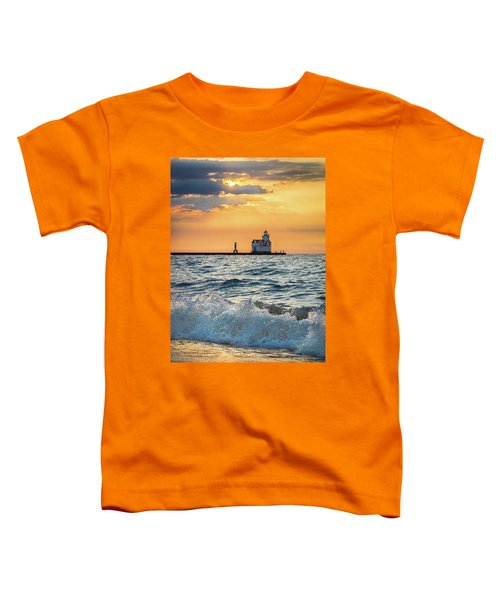Toddler T-Shirt featuring the photograph Morning Dance On The Beach by Bill Pevlor