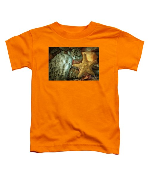 Sea Pebbles With Shells And Starfish Toddler T-Shirt