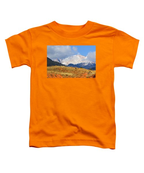 Snow Capped Pikes Peak Colorado Toddler T-Shirt