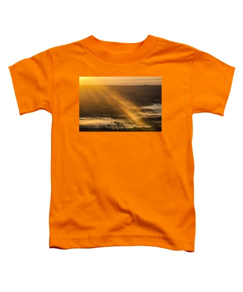 View Over The Hope Valley From Mam Tor At Dawn Toddler T-Shirt