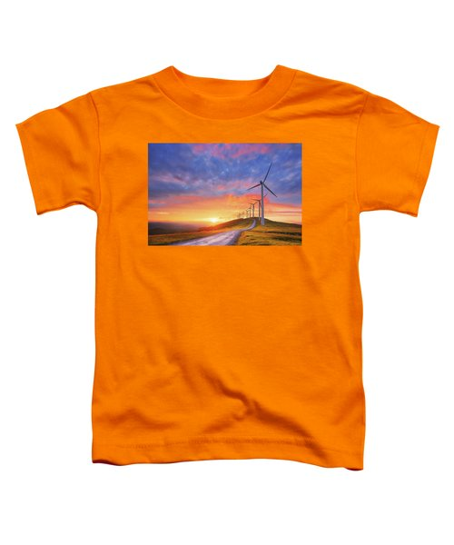 wind turbines in Oiz eolic park Toddler T-Shirt