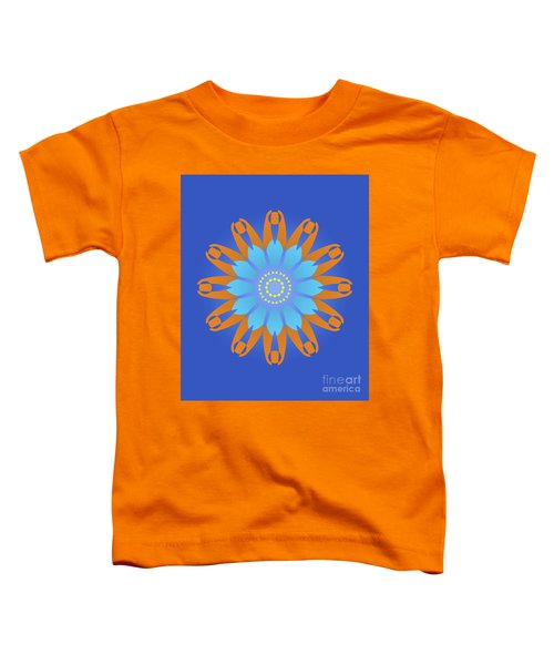 Abstract Blue, Orange And Yellow Star Toddler T-Shirt