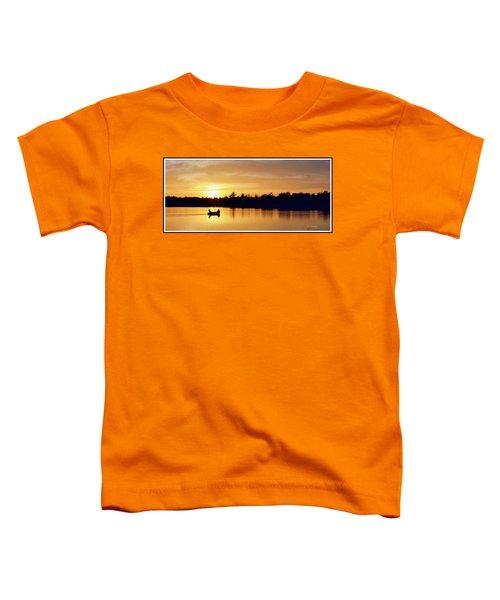 Fishermen On A Lake At Sunset Toddler T-Shirt