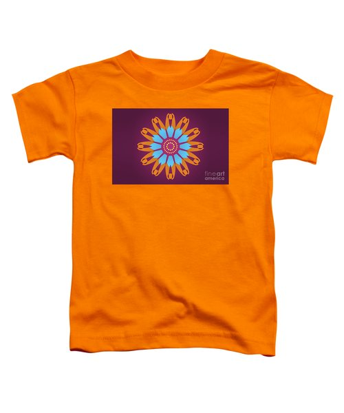 Landscape Purple Back And Abstract Orange And Blue Star Toddler T-Shirt