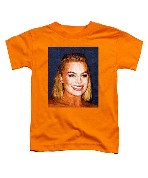 Margot Robbie Art Toddler T-Shirt by Best Actors