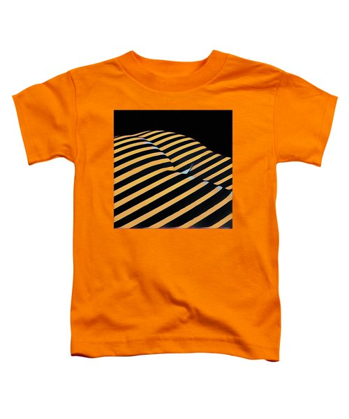 2612s-ak Abstract Rear Butt Bum Thighs Zebra Striped Woman In Composition Style Toddler T-Shirt