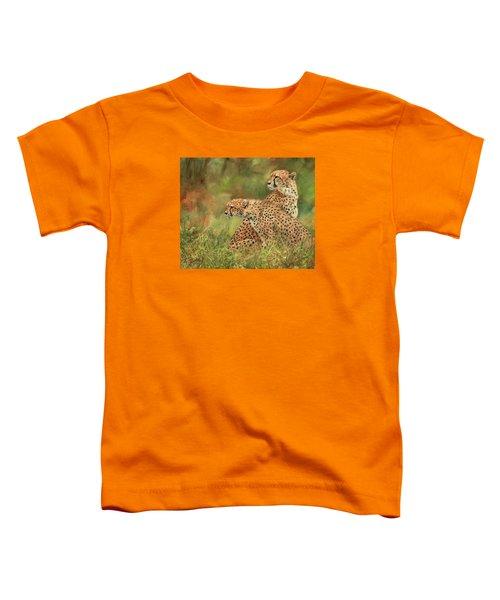 Cheetahs Toddler T-Shirt by David Stribbling