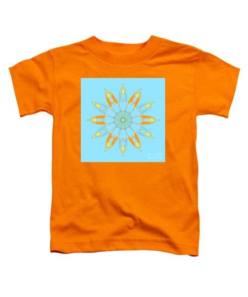 Mandala Cyan And Orange, Star, Abstract Star, Birthday Gift Toddler T-Shirt