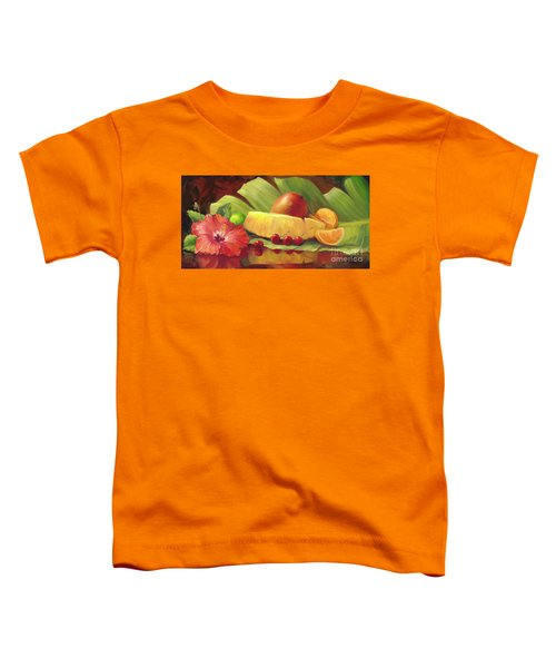 4 Cherries Toddler T-Shirt by Laurie Hein