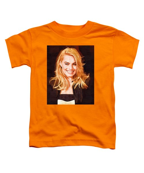 Margot Robbie Painting Toddler T-Shirt