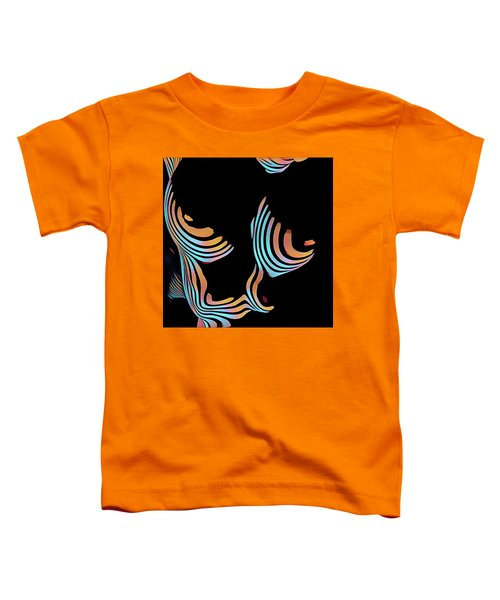 5126s-mak Large Breasts Ribs Abstract View Rendered In Composition Style Toddler T-Shirt