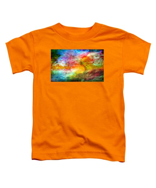 5a Abstract Expressionism Digital Painting Toddler T-Shirt