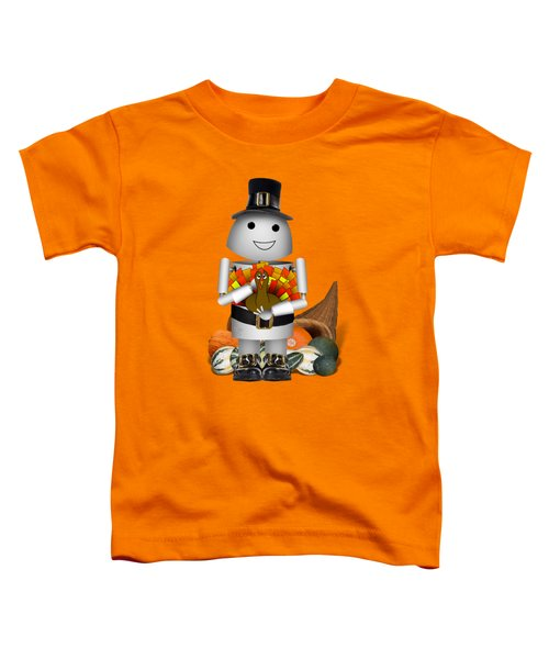 Robo-x9 The Pilgrim Toddler T-Shirt by Gravityx9 Designs