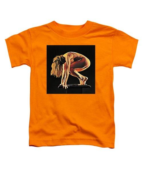 7188s-amg Nude Watercolor Of Sensual Mature Woman Toddler T-Shirt