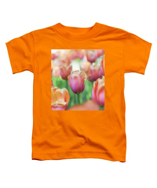 A Bed Of Tulips Is A Feast For The Eyes. Toddler T-Shirt