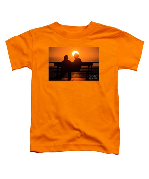 A Couple Sitting At Sunset Toddler T-Shirt