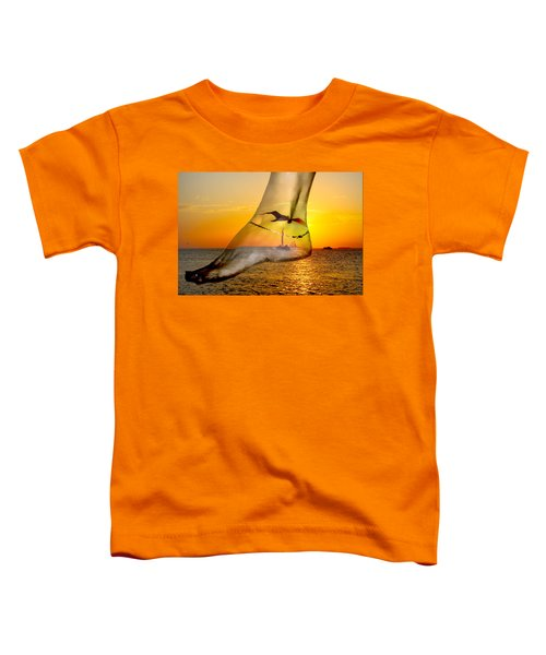 A Foot In The Sunset Toddler T-Shirt