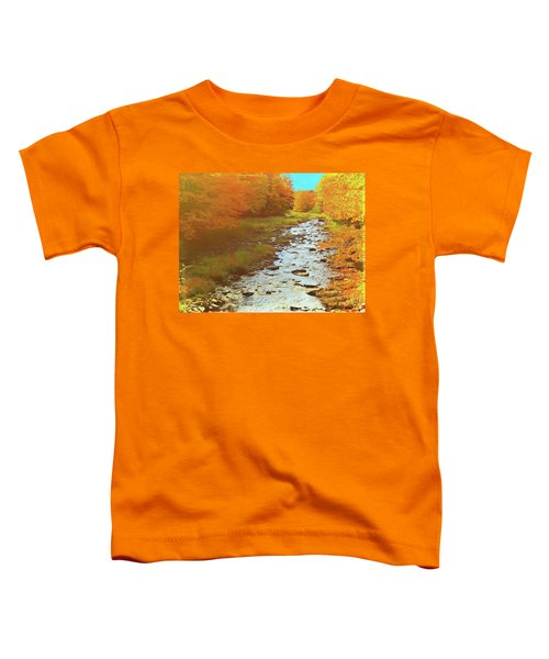 A Small Stream Bright Fall Color. Toddler T-Shirt