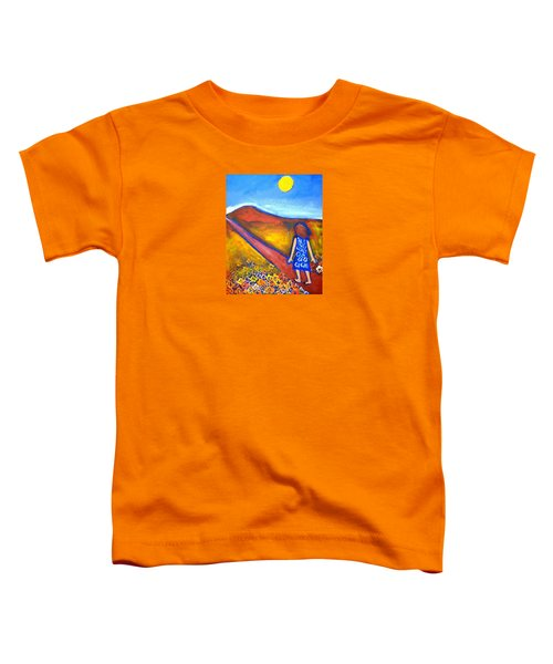 Toddler T-Shirt featuring the painting A Sunny Path by Winsome Gunning