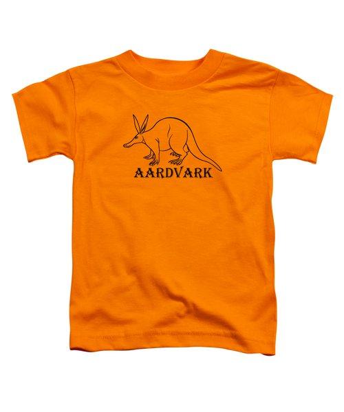 Aardvark Toddler T-Shirt by Sarah Greenwell