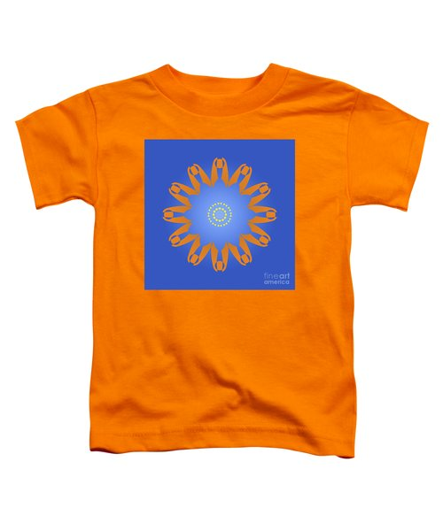 Abstract Blue Square, Orange And Yellow Star Toddler T-Shirt