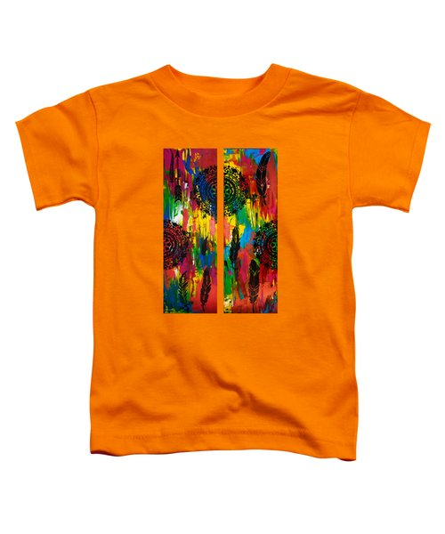 Abstract Boho Design - Diptych By Nikki And Kaye Menner Toddler T-Shirt