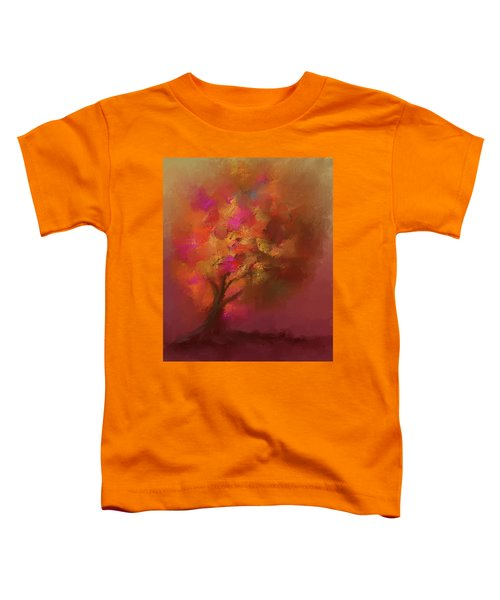 Abstract Colourful Tree Toddler T-Shirt