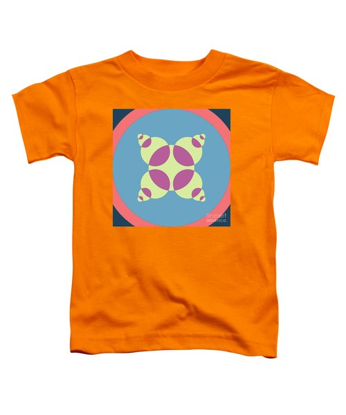 Abstract Mandala Orange, Black And Cyan Pattern For Home Decoration Toddler T-Shirt