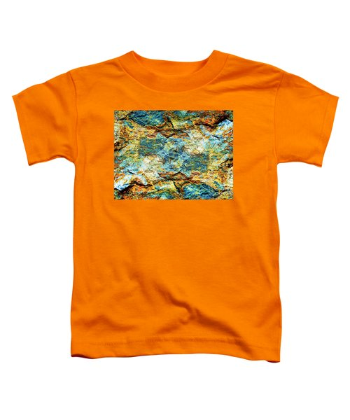 Abstract Nature Tropical Beach Rock Blue Yellow And Orange Macro Photo 472 Toddler T-Shirt