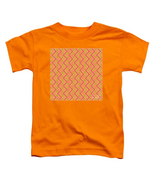 Abstract Orange, Red And Brown Pattern For Home Decoration Toddler T-Shirt